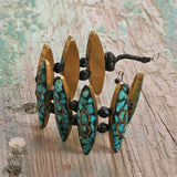 Leaved Turquoise Handmade Necklace Set - Kashmir Box
