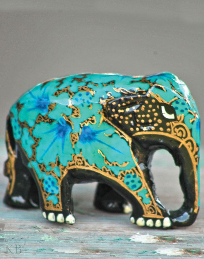 Paper Mache Royal Elephant (Set of 3) - Kashmir Box