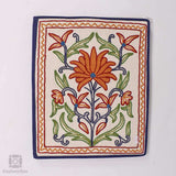White Velvet Aari Embroidered Folder