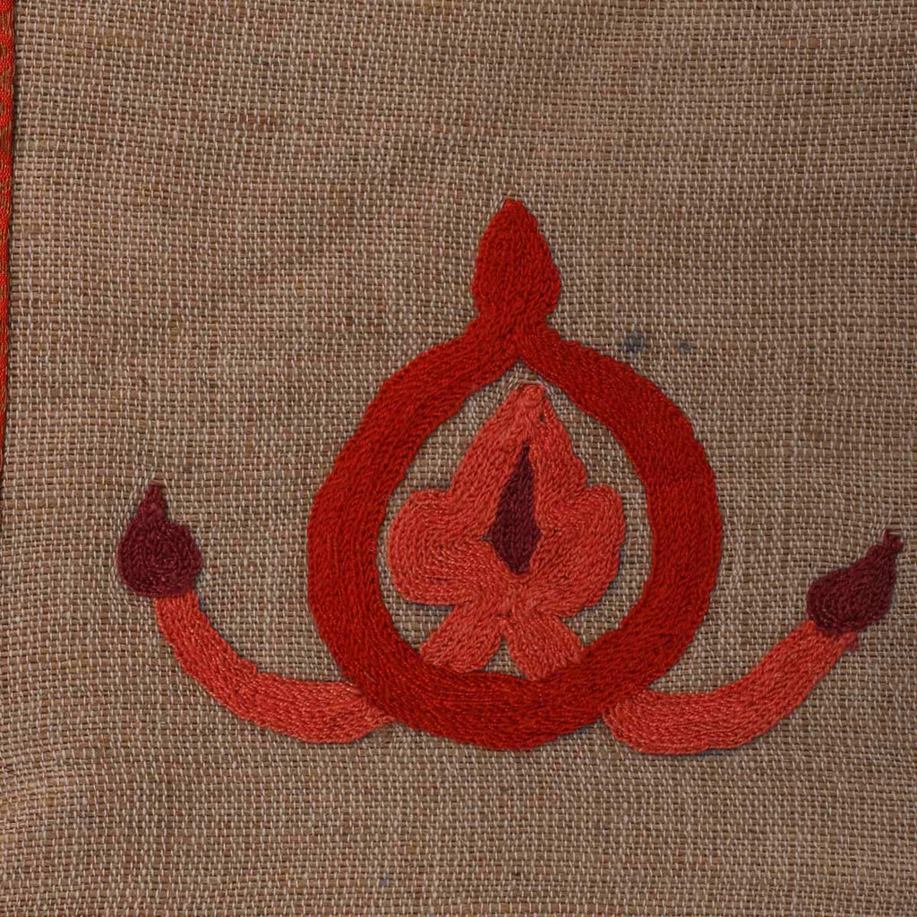 Handcrafted Jute Embroidered Table Mat