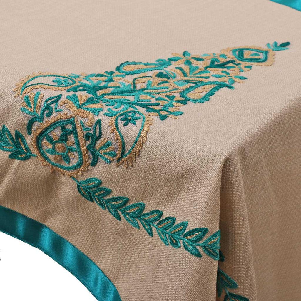 Handcrafted Jute Aari Table Runner