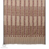 Creme Striped Sozni Pashmina Towel Shawl