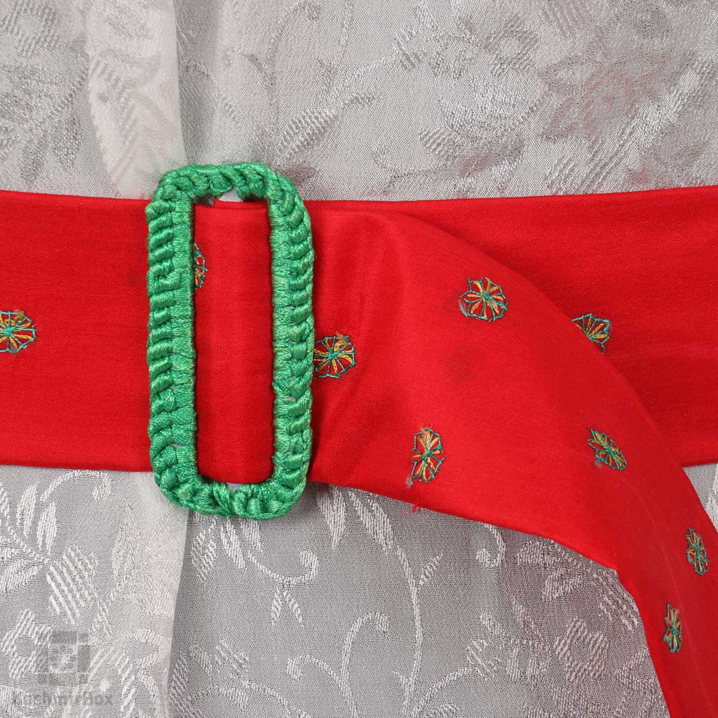 Gulnar Red Sozni Embroidered Belt