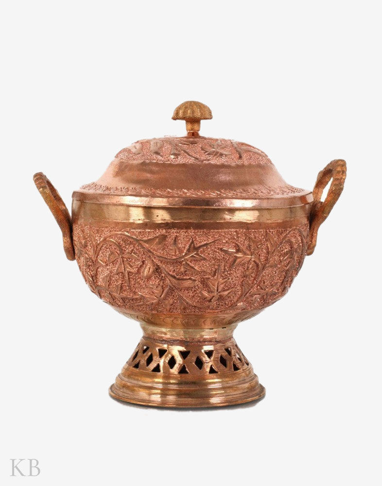 Chinar Engraved Copper Bowl (Doonga) - Kashmir Box