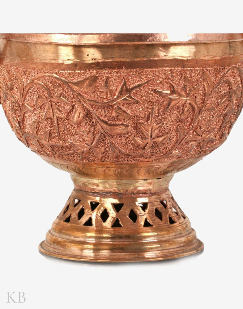 Chinar Engraved Copper Bowl (Doonga)