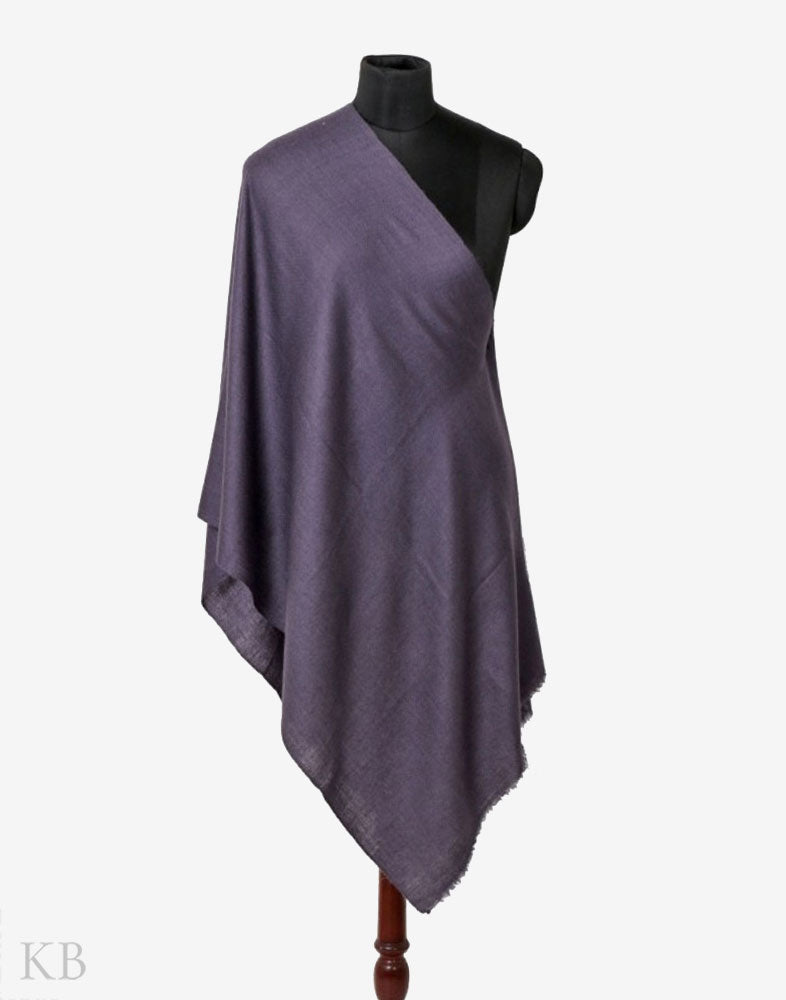 GI Certified Slate Grey Solid Cashmere Pashmina Stole