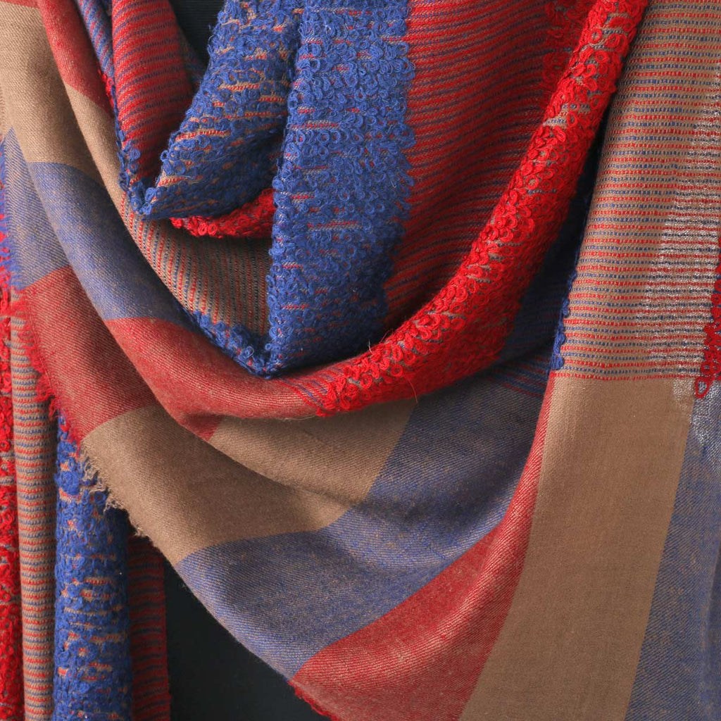 Multi Coloured Striped Towel Pashmina Shawl