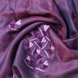 Dual Shaded Aari Embroidered Silk Stole