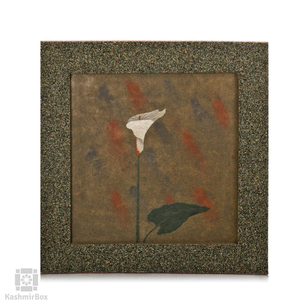 Stone White Lily Flower Wall Art