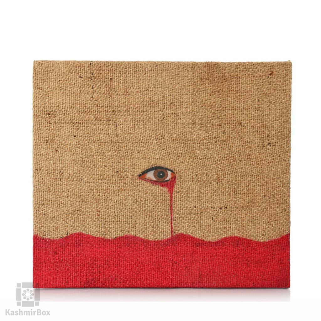 Weeping Eyes Stone Art Painting - Kashmir Box