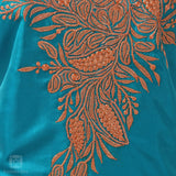 Sky Blue Bota Tilla Hand Embroidered Silk Suit