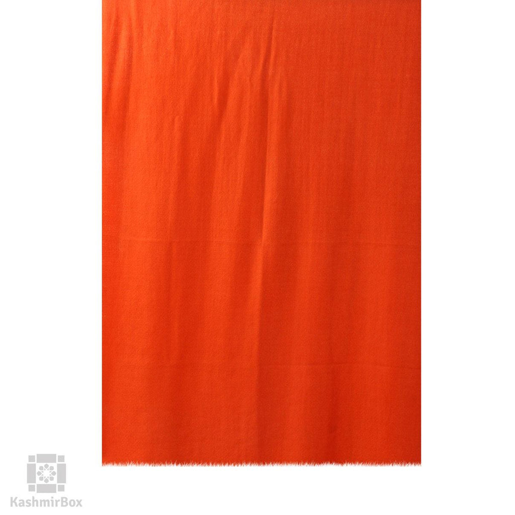 Tiger Orange Solid Cashmere Pashmina Stole