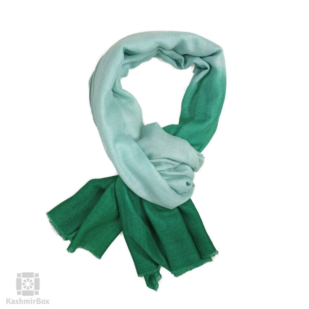 Green Tie And Dye Pashmina Stole
