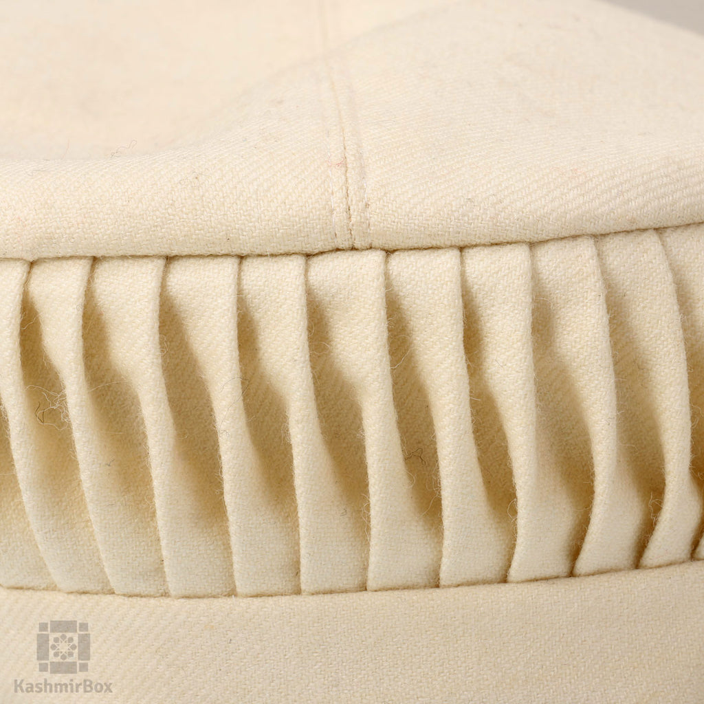 Cream White Woolen Cap