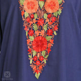 Enmeshed Marigolds Aari Embroidered Cotton Kurti - Kashmir Box