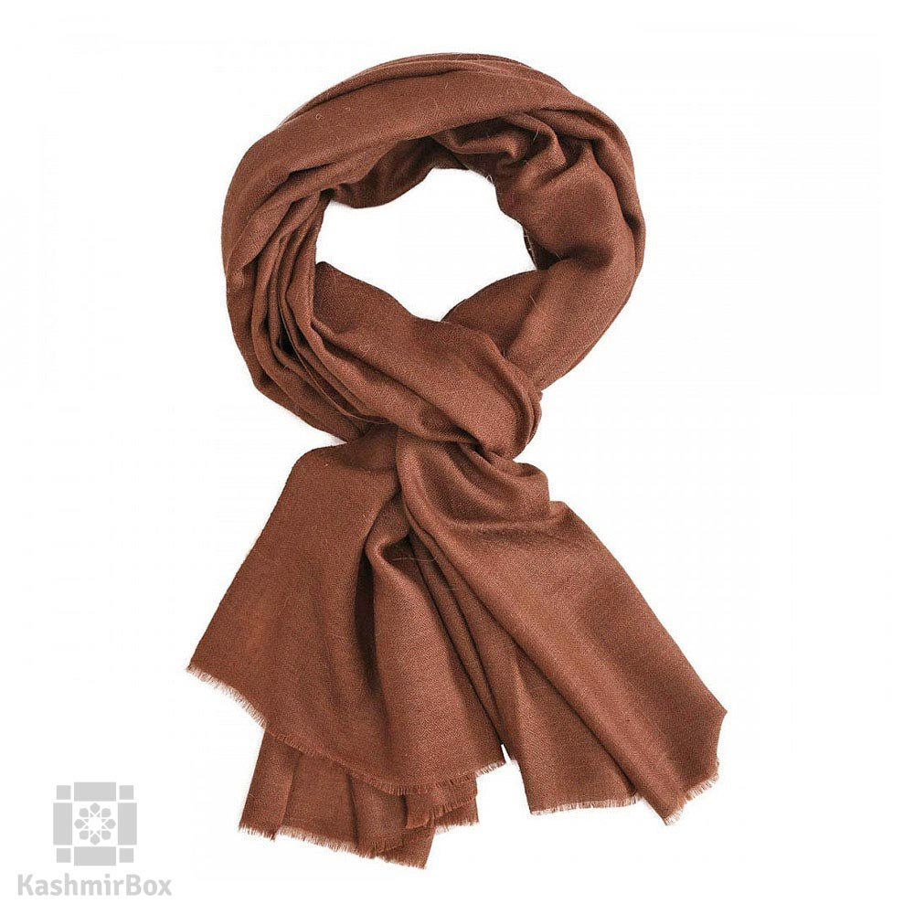 Earthy Brown Woolen Shawl - Kashmir Box
