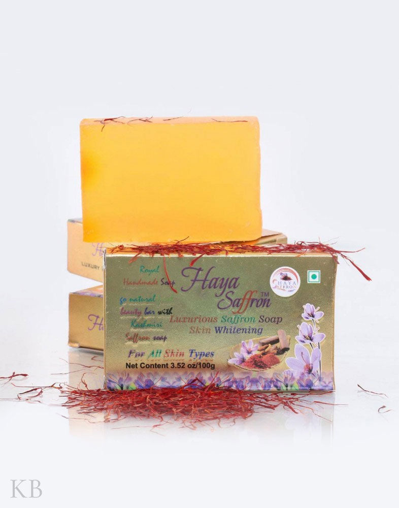 Haya Saffron Soap (Pair) - Kashmir Box