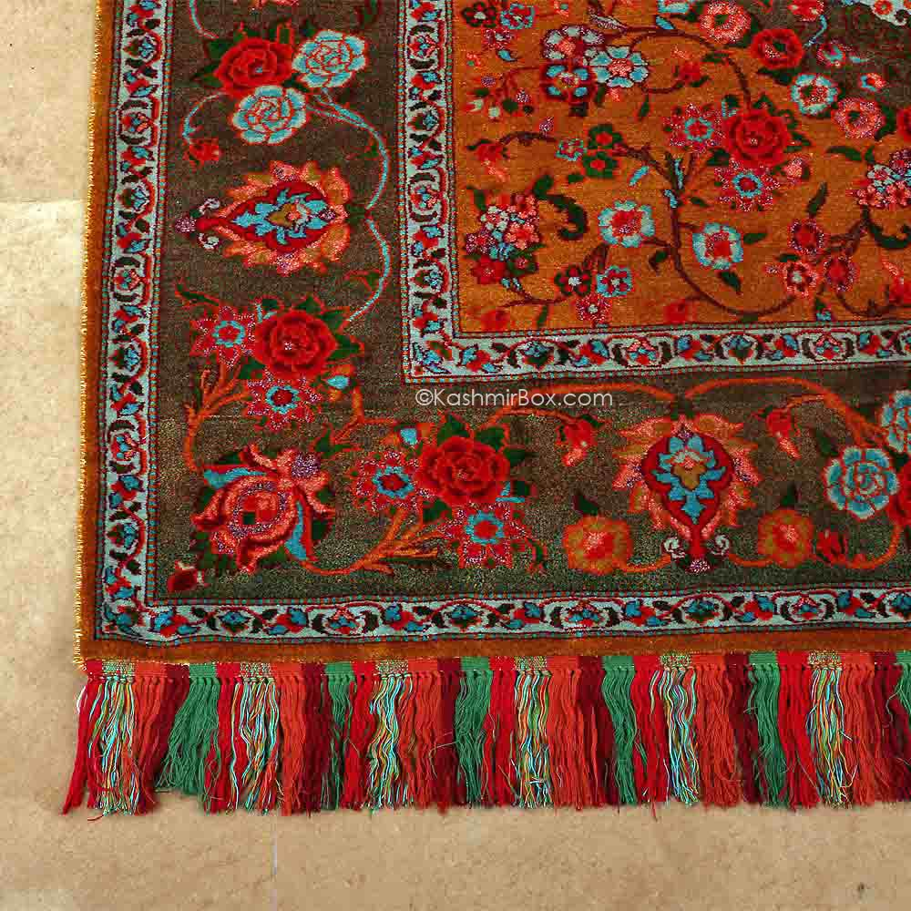 Mixed Gulabdar Silk Carpet - Kashmir Box