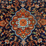 Black Kashan Silk Carpet - KashmirBox.com