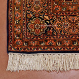 Black Gumm Silk carpet - KashmirBox.com
