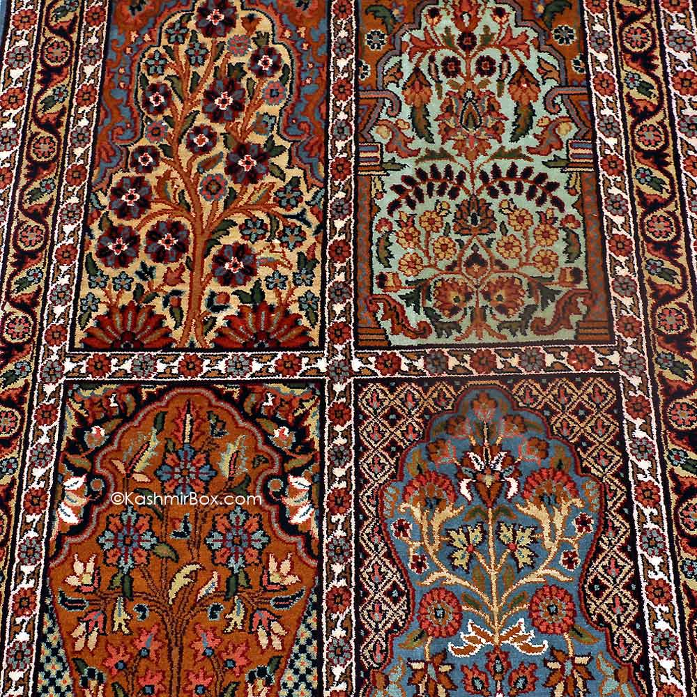 Black Hamadan Silk Carpet