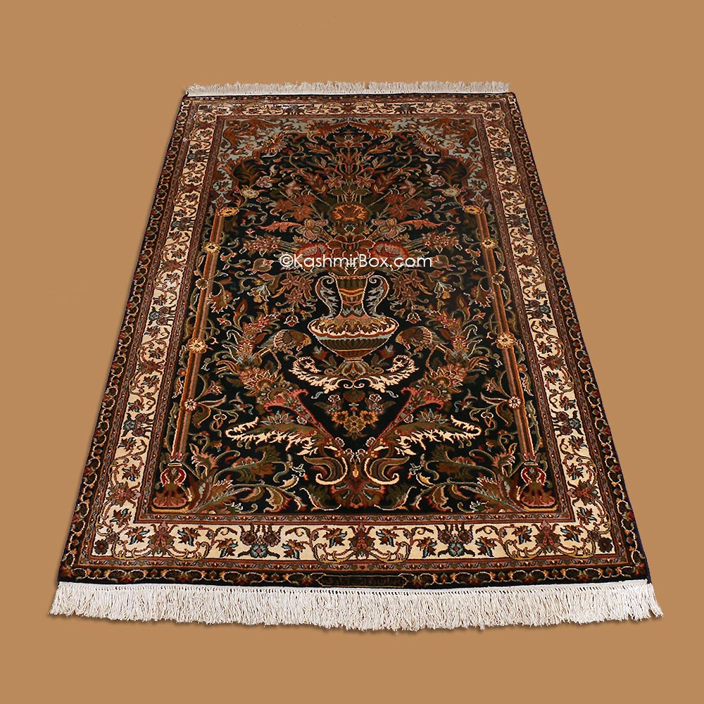 Black Tree of Life Silk Carpet