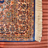 Ferozi Kashan Silk Carpet