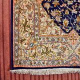 Blue Kashan Silk Carpet - Kashmir Box