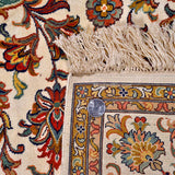 White Kashan Silk Carpet - Kashmir Box