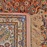 Salmon Kashan Silk Carpet