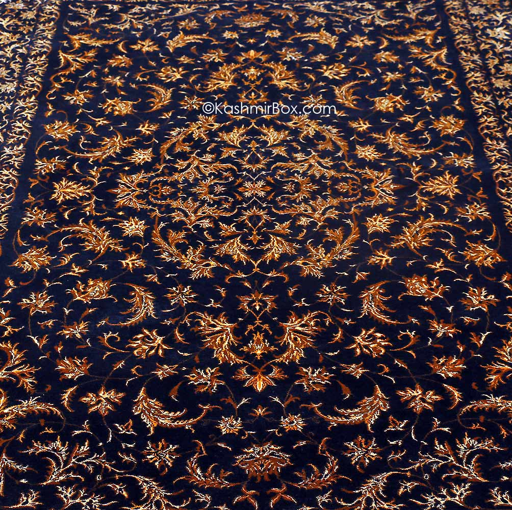 Black All Over Silk Carpet