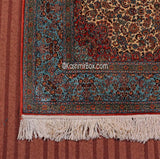 Crimson Blue Kashan Silk Carpet