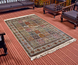 White Royal Taj Silk Carpets