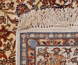 White Kashan Silk Cotton Carpet