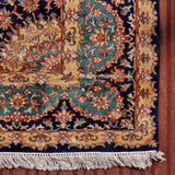 Blue Kirman Silk Cotton Carpet
