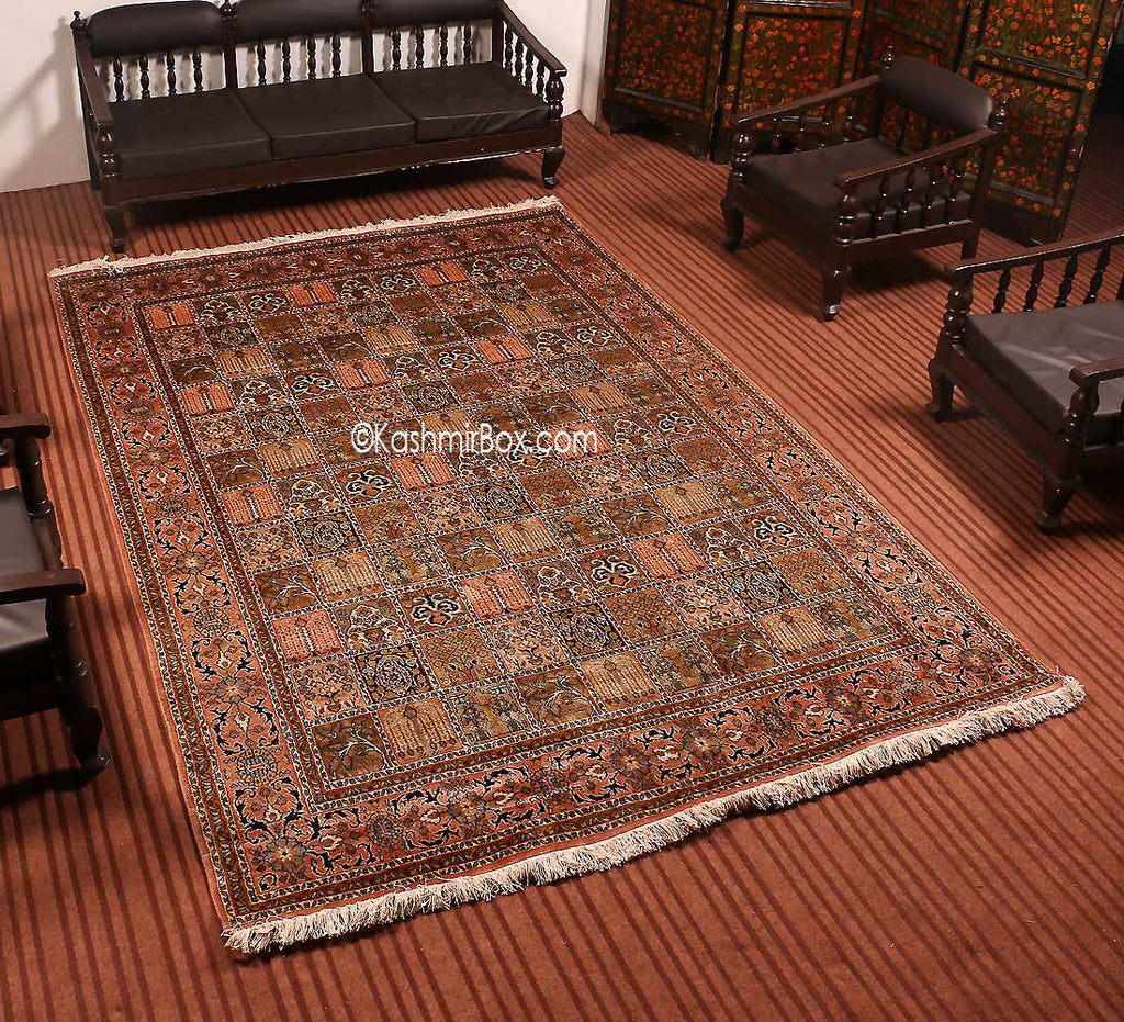 White Dabdar Silk Cotton Carpet
