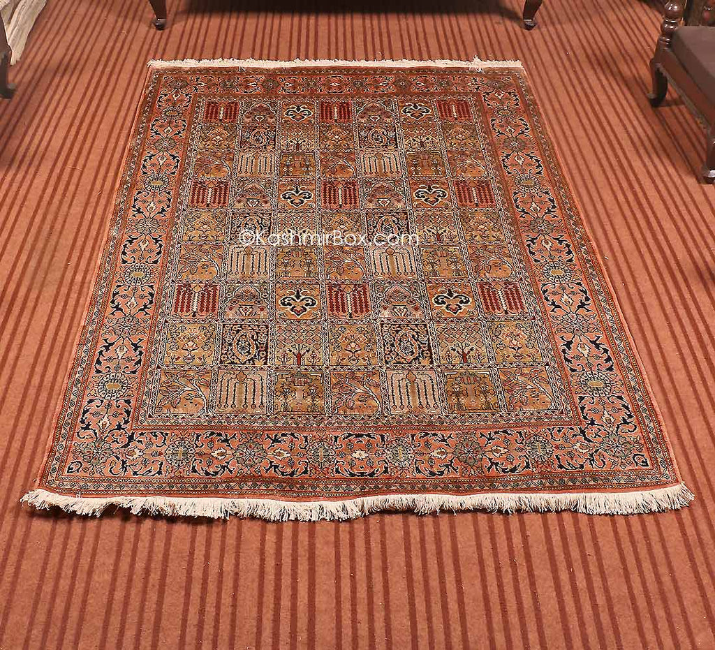 Brown Dabdar Silk Cotton Carpet