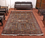 Blue Ghumm Silk Cotton Carpet