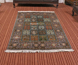 Brown Staple Dabdar Carpet - Kashmir Box