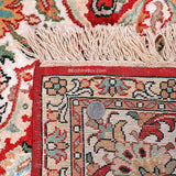 Red Kashan Staple Carpet - KashmirBox.com