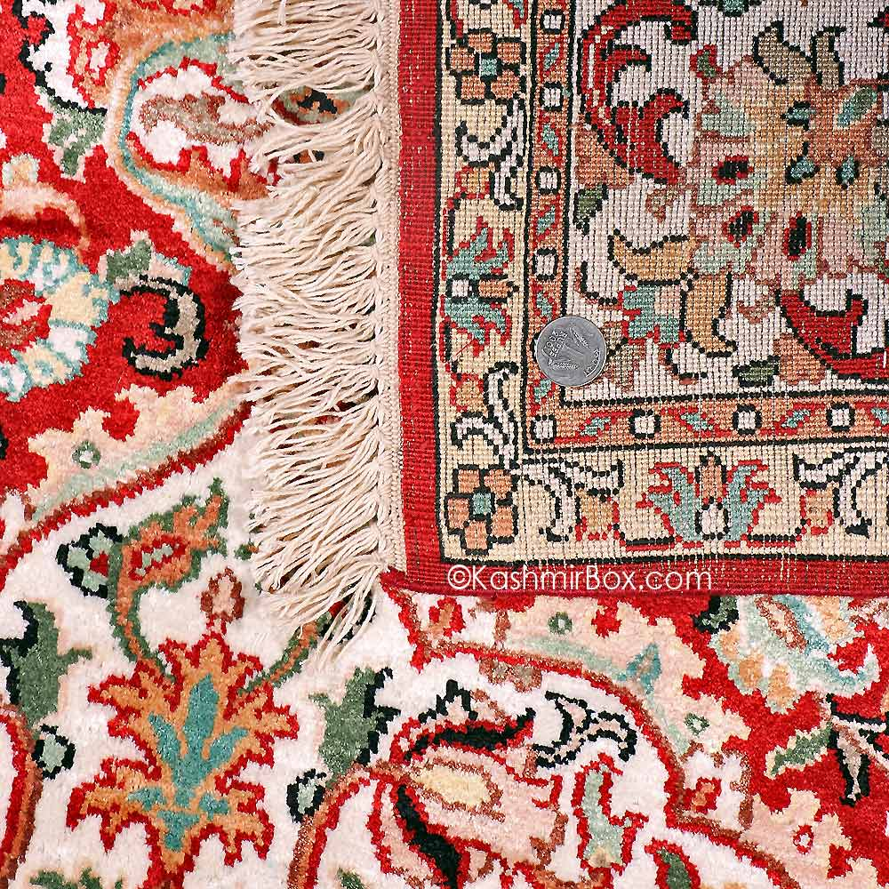 Red Kashan Staple Carpet