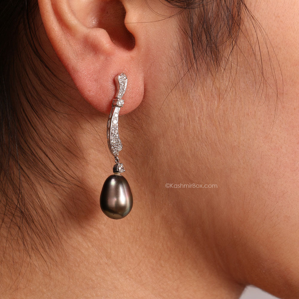 South Sea Pearl and Diamonds Earring Set
