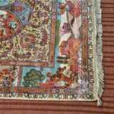 White Taj Mahal Silk Carpet - Kashmir Box