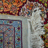 White Abassi Silk Carpet - Kashmir Box