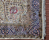 White Sadakdar Silk Carpet