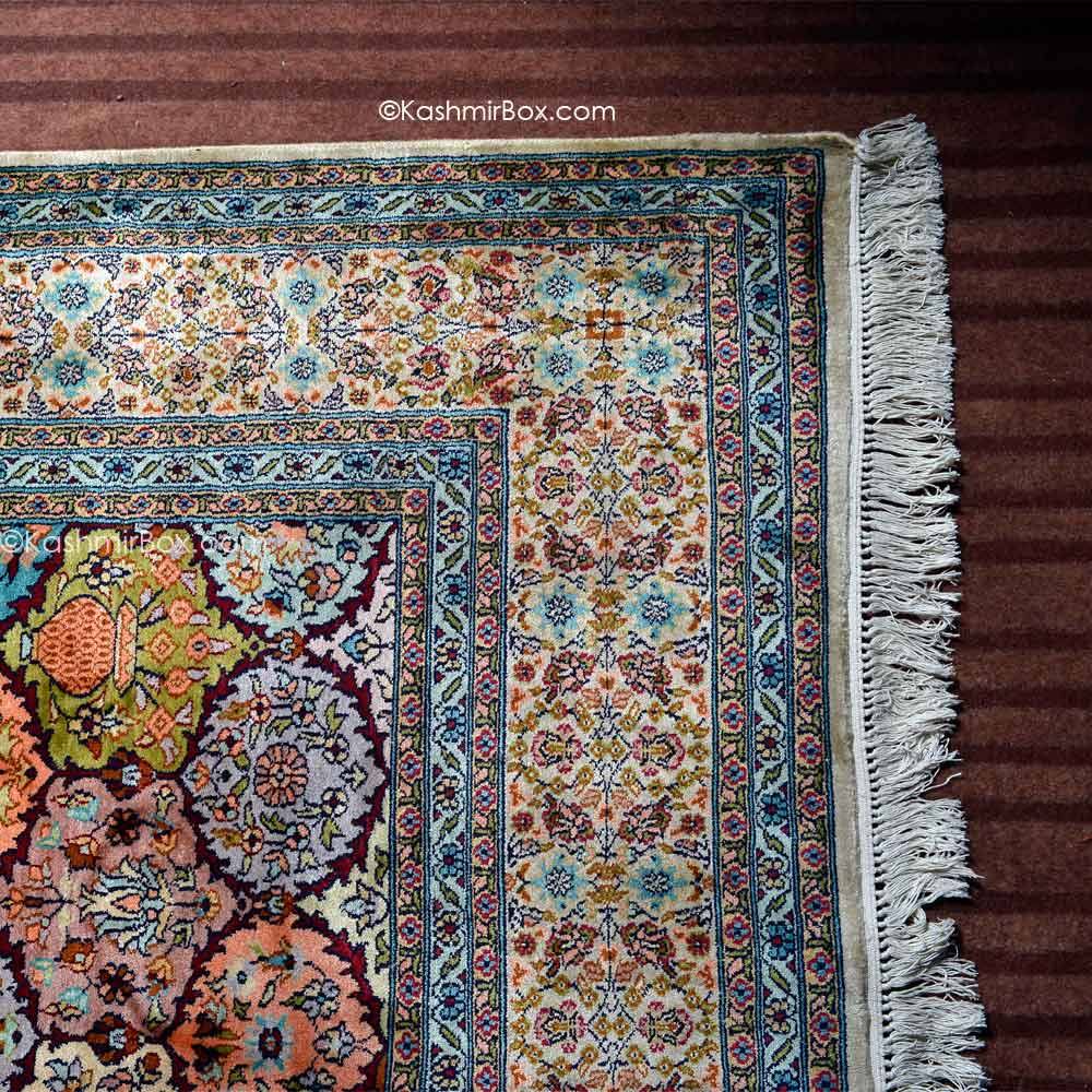 Gray Blue Abassi Silk Carpet