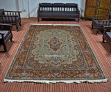 Blue Badamdar Silk Carpet