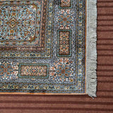 Fawn Akbar Tile Silk Carpet