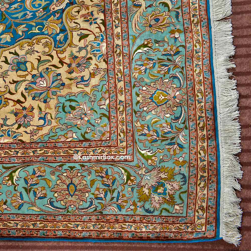Ferozi All Over Silk Carpet