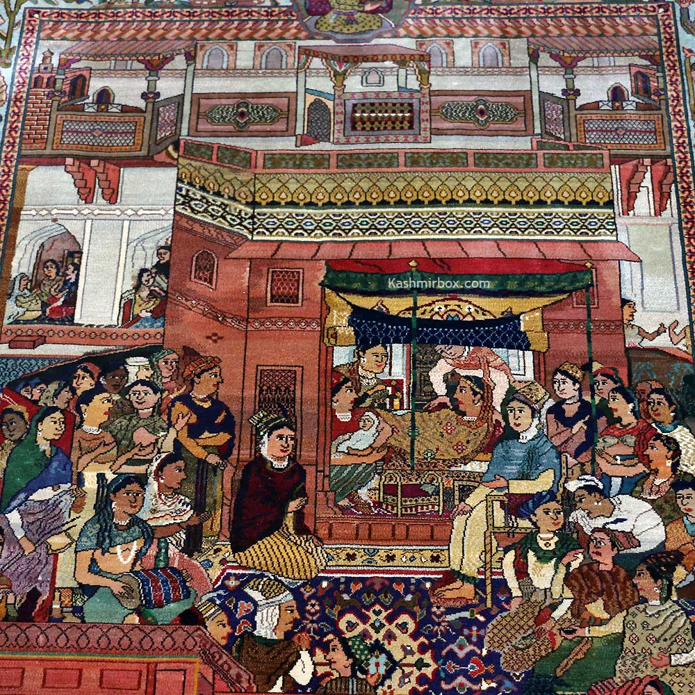 Durbar-e-Akbari Silk Carpet